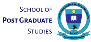 School of Post Graduate Studies - ATBU